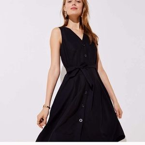 LOFT women's button down pocket flare dress 00